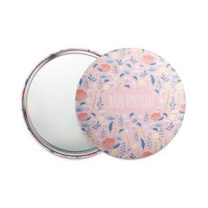 Одностороннее карманное зеркало 75 мм «Жизнь прекрасна!»