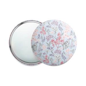 Одностороннее карманное зеркало 75 мм «Цветочный букет»