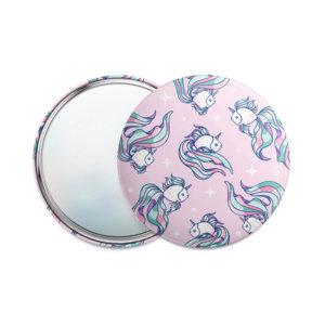 Одностороннее карманное зеркало 75 мм «Рыбки»