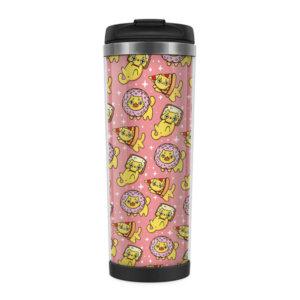 Металлическая термокружка со вставкой «Вивиль» розовая
