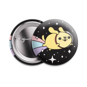 Значок «  Космический пес» 37 мм