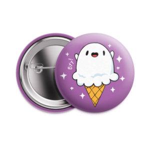 Значок «Призрак-мороженое» 37 мм