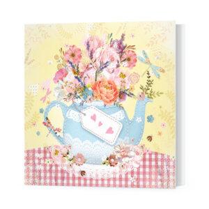 Мини-открытка «Цветочный чай» Ф-10