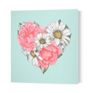 Мини-открытка «Сердце» Ф-10