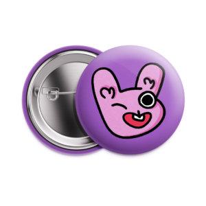 Значок «Розовый заяц» 37 мм