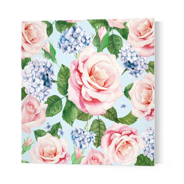 Мини-открытки, 10 шт, «Розы и гортензии» Ф-10