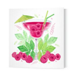 Мини-открытки, 10 шт, «Малиновый сок» Ф-10