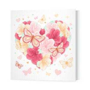 Мини-открытки, 10 шт, «Цветы и бабочки» Ф-10