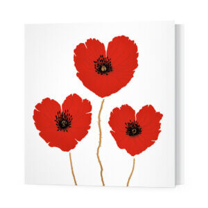 Мини-открытки, 10 шт, «Маки» Ф-10