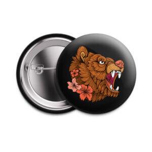 Значок «Тату-медведь» 37 мм